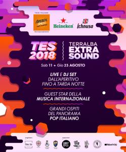 la locandina del Terralba Extra Sound 2018