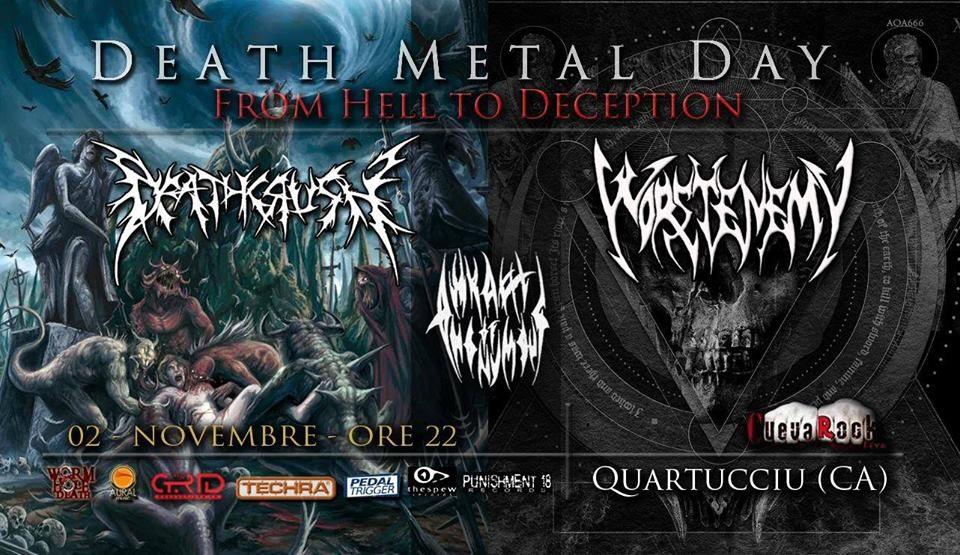 death metal day - cueva rock - quartucciu - ilaria littera - sa scena sarda