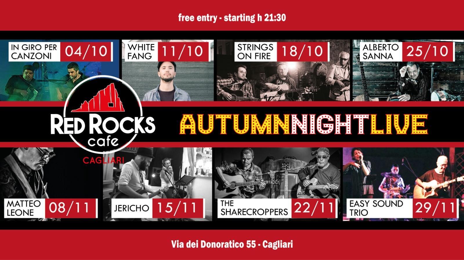 Autumn Friday Night Live - Matteo Leone - Red Rocks Café - Cagliari - 8 novembre 2019 - eventi - 2019 - Sa Scena Sarda