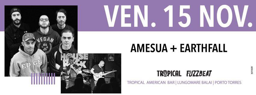 Fuzzbeat - Amesua - Earthfall - Tropical American Bar - Porto Torres - 15 novembre 2019 - eventi - 2019 - Sa Scena Sarda