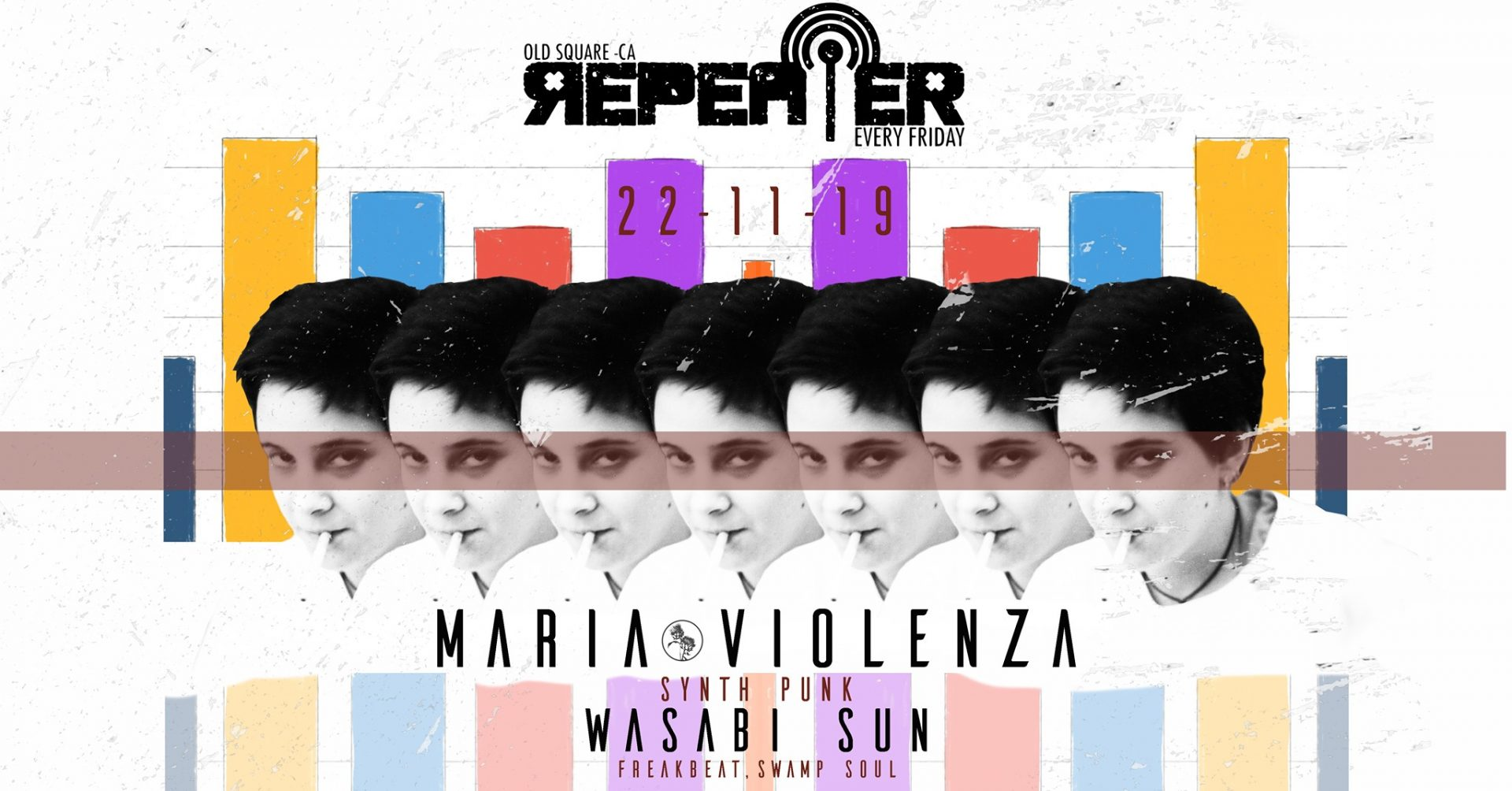 repeater - maria violenza - old square - cagliari - 22 novembre - 2019 - sa scena sarda