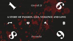 a history of passion, lies violence and love - de candia - 21 novembre - cagliari - sa scena sarda