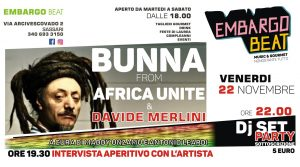 bunna - embargo beat - evento - 22 novembre - sassari - sa scena srda - 2019