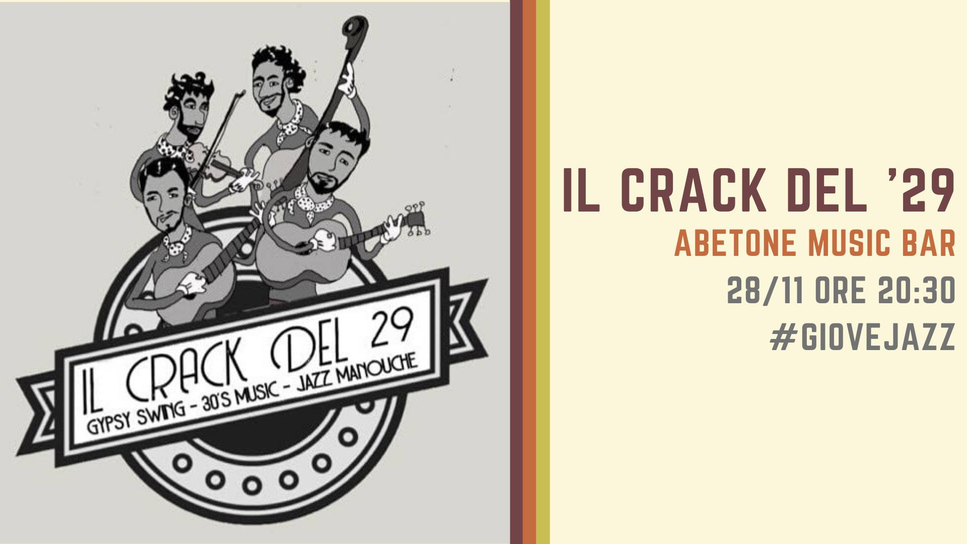 Giovejazz - Crack del '29 - Abetone Music Bar - Sassari - 28 novembre 2019 - eventi - 2019 - Sa Scena Sarda