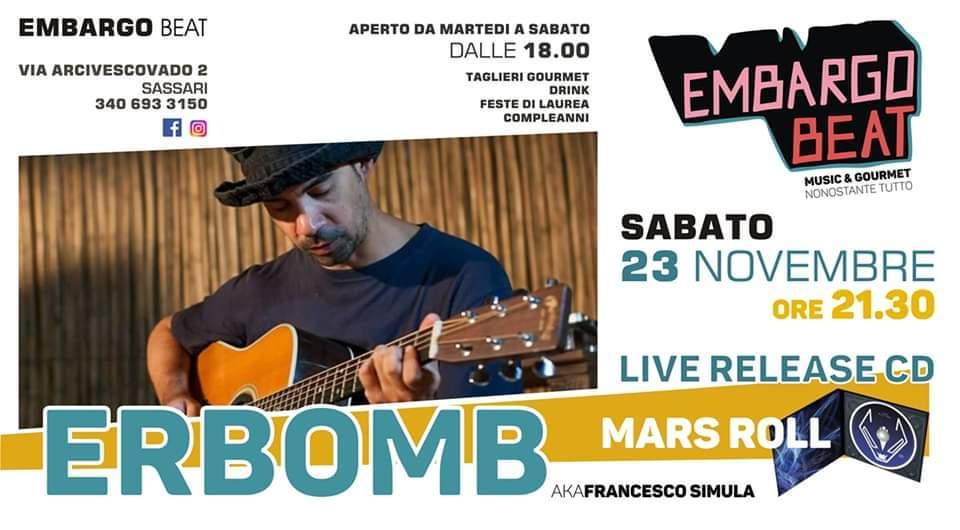 erbomb - embargo beat - evento - 30 novembre - sassari - sa scena srda - 2019