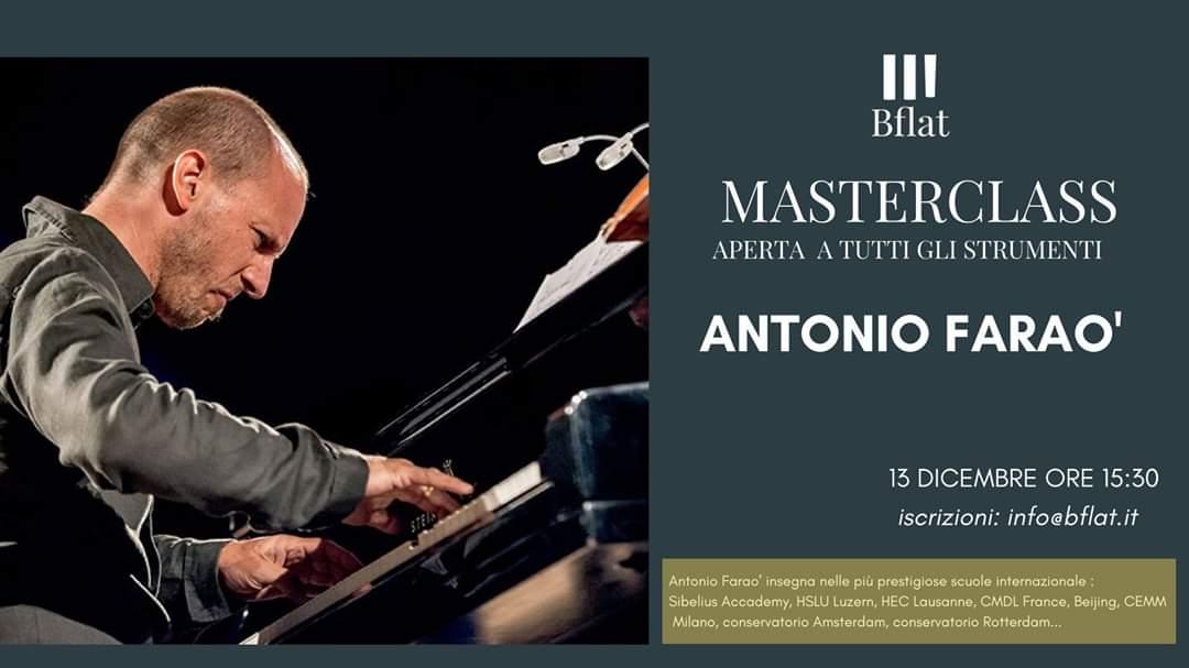 Antonio Faraò - Masterclass - Bflat - 15 dicembre 2019 - Cagliari - 2019 - Sa Scena Sarda
