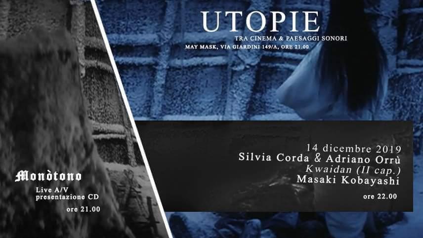 Utopie - 2 - Silvia Corda - Adriano Orrù - Caldini - May Mask - Cagliari - 14 dicembre 2019 - eventi - 2019 - Sa Scena Sarda