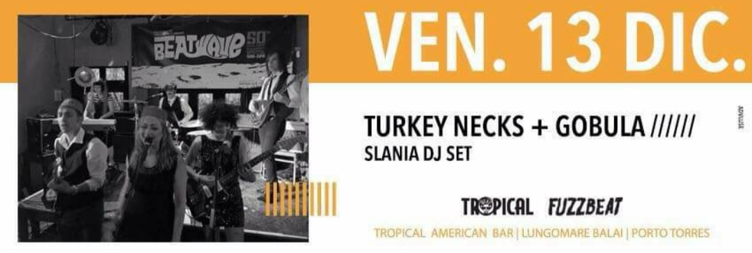 Fuzzbeat - The Turkey Necks - Gobula - Tropical American Bar - Porto Torres - 13 dicembre 2019 - eventi - 2019 - Sa Scena Sarda