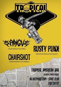 Fuzzbeat - Sangue - Chairshot - Rusty Punx - Tropical American Bar - Porto Torres - 6 dicembre 2019 - eventi - 2019 - Sa Scena Sarda