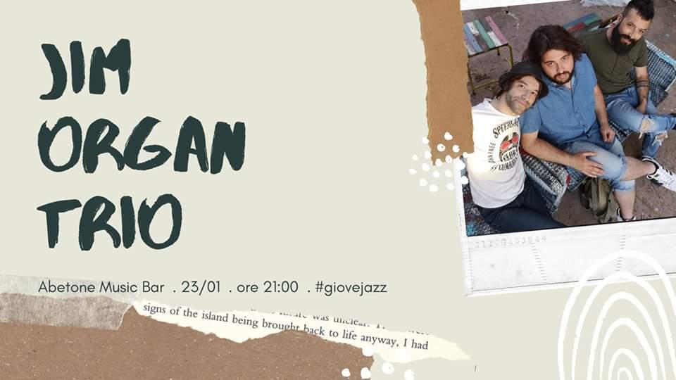 Giovejazz - Jim Organ Trio - Abetone Music Bar - Sassari - 23 gennaio 2020 - eventi - 2020 - Sa Scena Sarda