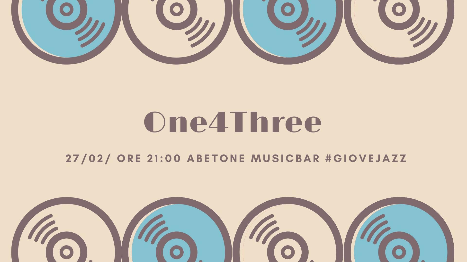 Giovejazz - One4Three - Abetone Music Bar - Sassari - 27 febbraio 2020 - eventi - 2020 - Sa Scena Sarda