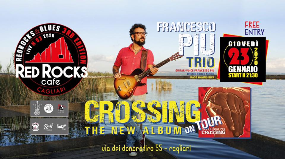 Red Rocks & Blues - Francesco Piu - Red Rocks Café - Cagliari - 24 gennaio 2020 - eventi - 2020 - Sa Scena Sarda