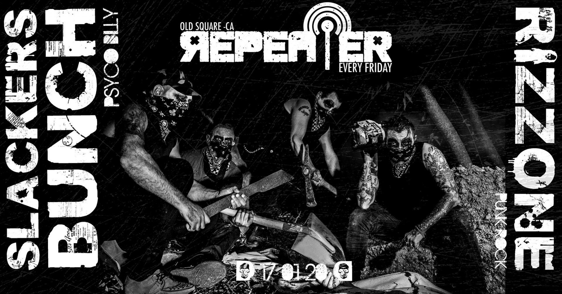 Repeater - Slackers Bunch - Old Square - Cagliari - 17 gennaio 2020 - eventi - 2020 - Sa Scena Sarda