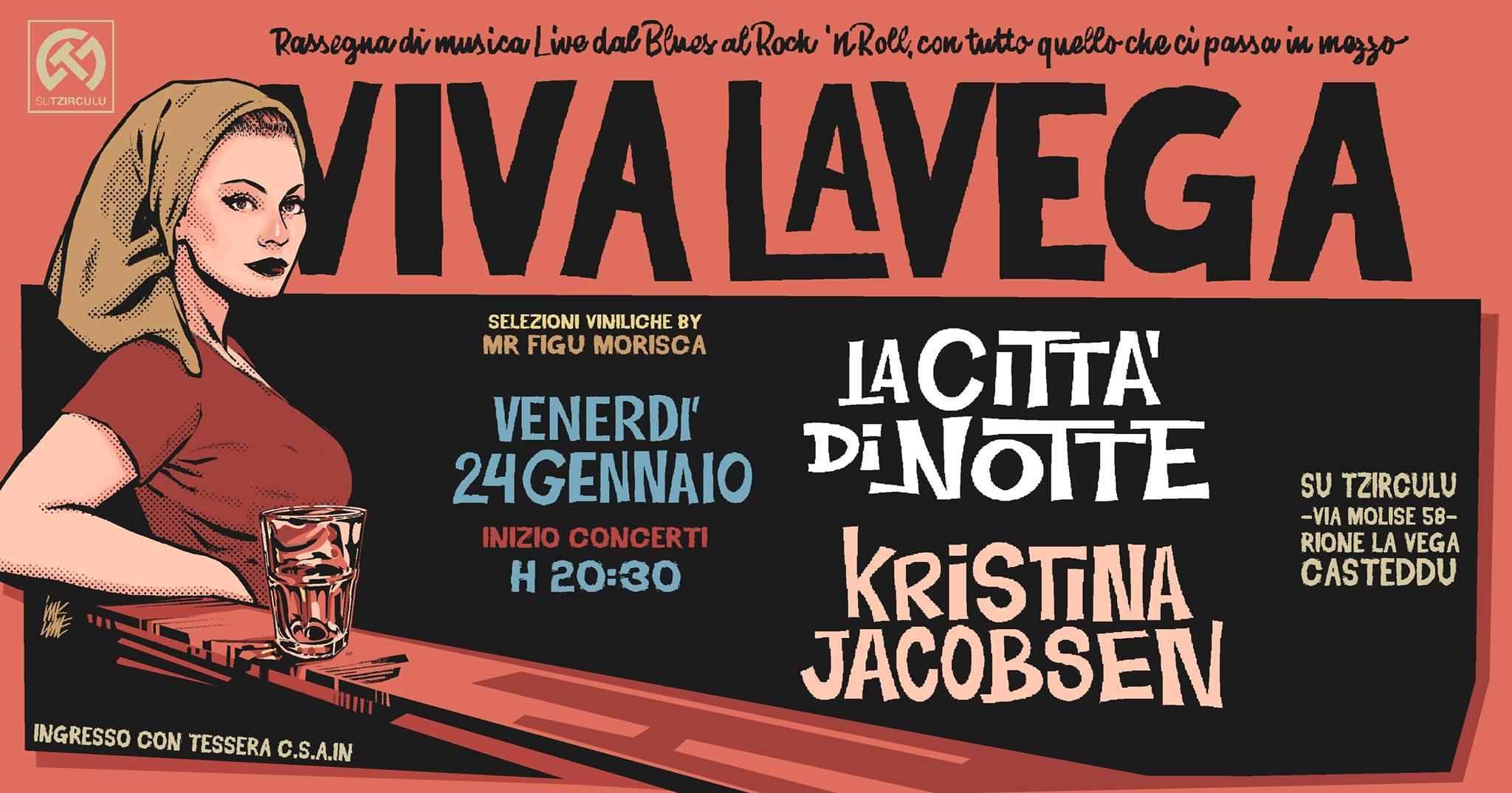 Viva La Vega - La Città di Notte - Kristina Jacobsen - Su Tzirculu - Cagliari - 24 gennaio 2020 - eventi - 2020 - Sa Scena Sarda