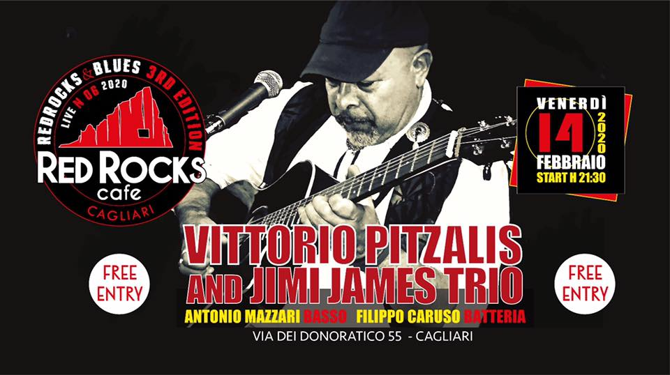 Red Rocks & Blues - Vittorio Pitzalis & Jimi James Trio - Red Rocks Café - Cagliari - 14 febbraio 2020 - eventi - 2020 - Sa Scena Sarda