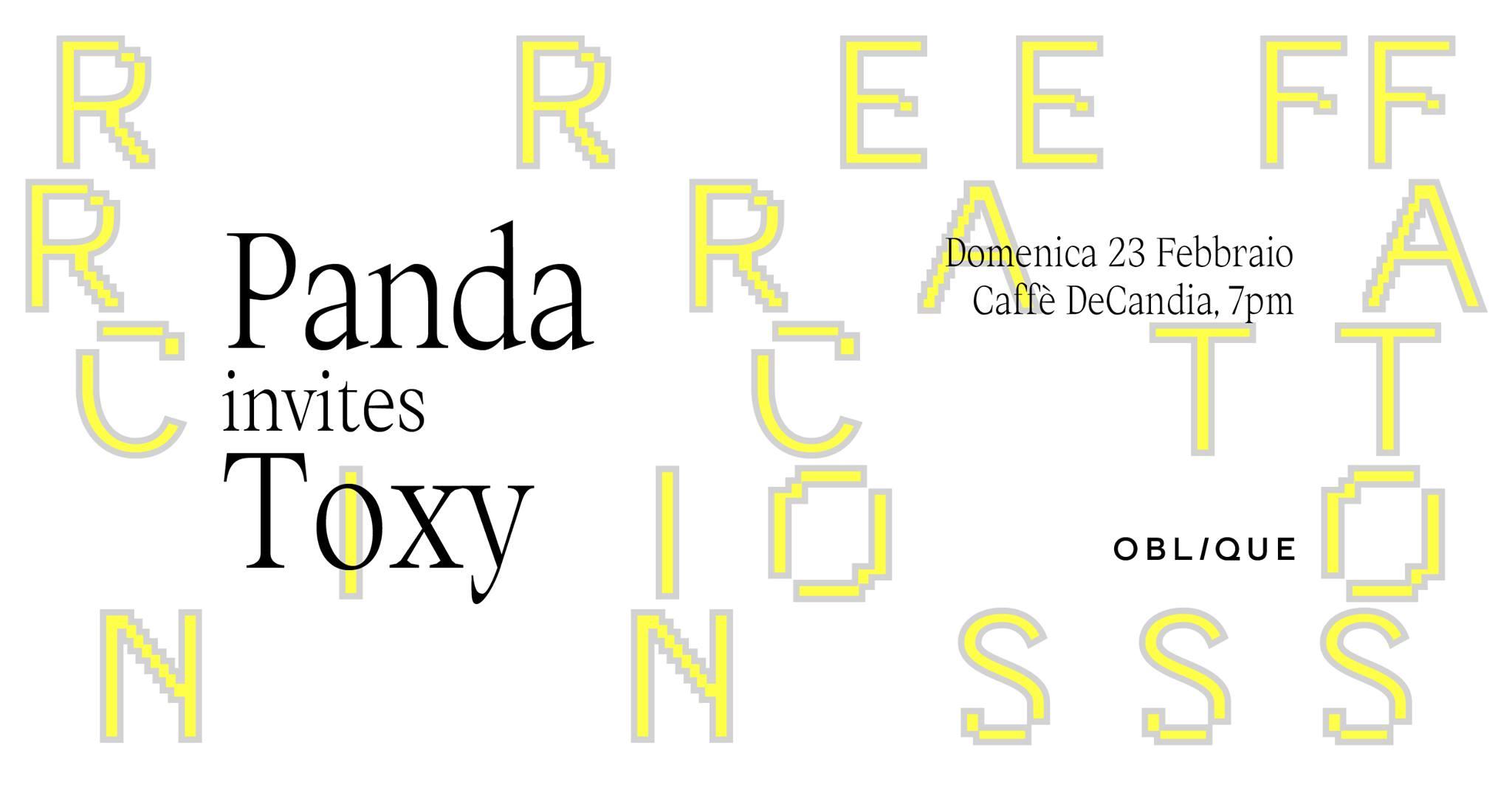 Refraction - Panda invites Toxy - De Candia - Cagliari - 23 febbraio 2020 - eventi - 2020 - Sa Scena Sarda