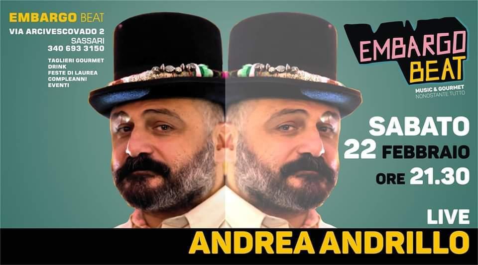 Andrea Andrillo - Embargo Beat - Sassari - 22 febbraio 2020 - eventi - 2020 - Sa Scena Sarda
