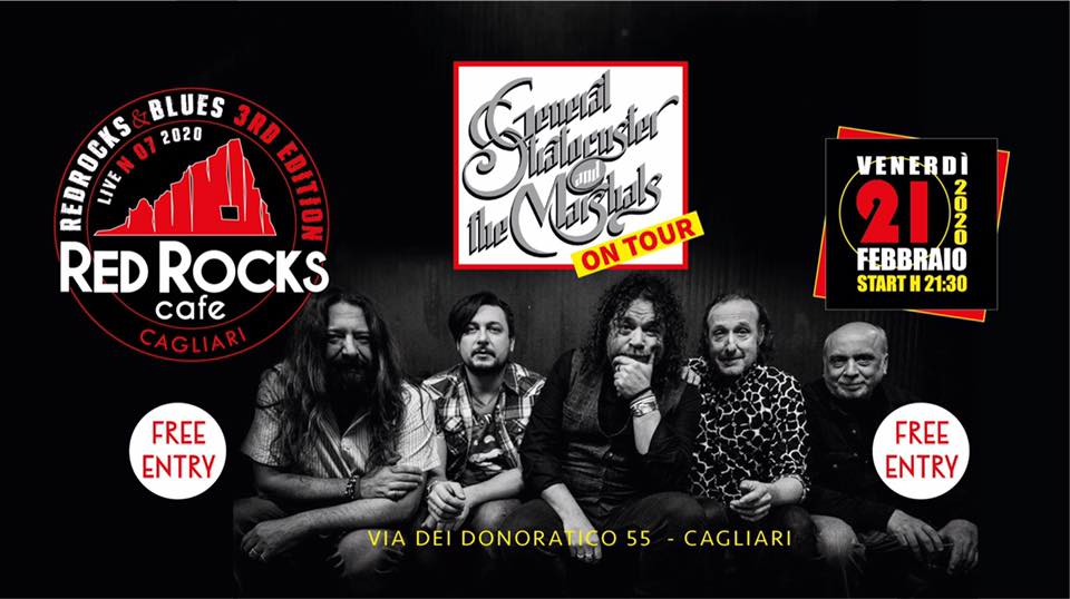 Red Rocks & Blues - General Stratocuster and The Marshal - Red Rocks Café - Cagliari - 21 febbraio 2020 - eventi - 2020 - Sa Scena Sarda