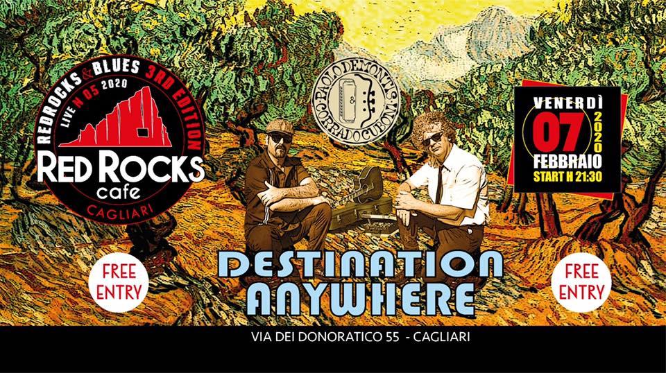 Red Rocks & Blues - Paolo Demontis - Corrado Cuboni - Giacomo Dessì - Red Rocks Café - Cagliari - 7 febbraio 2020 - eventi - 2020 - Sa Scena Sarda