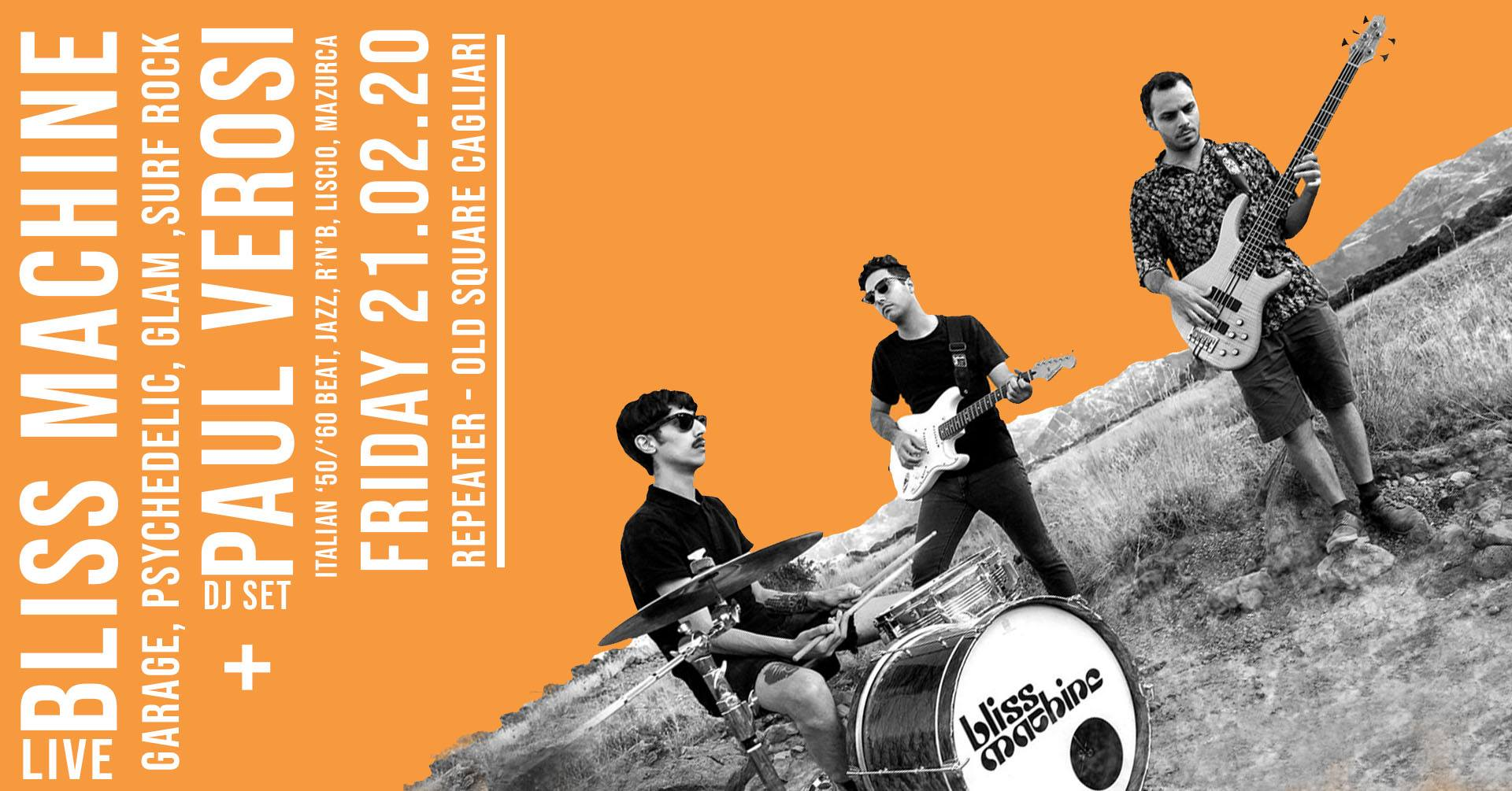 Repeater - Bliss Machine - Old Square - Cagliari - 21 febbraio 2020 - eventi - 2020 - Sa Scena Sarda