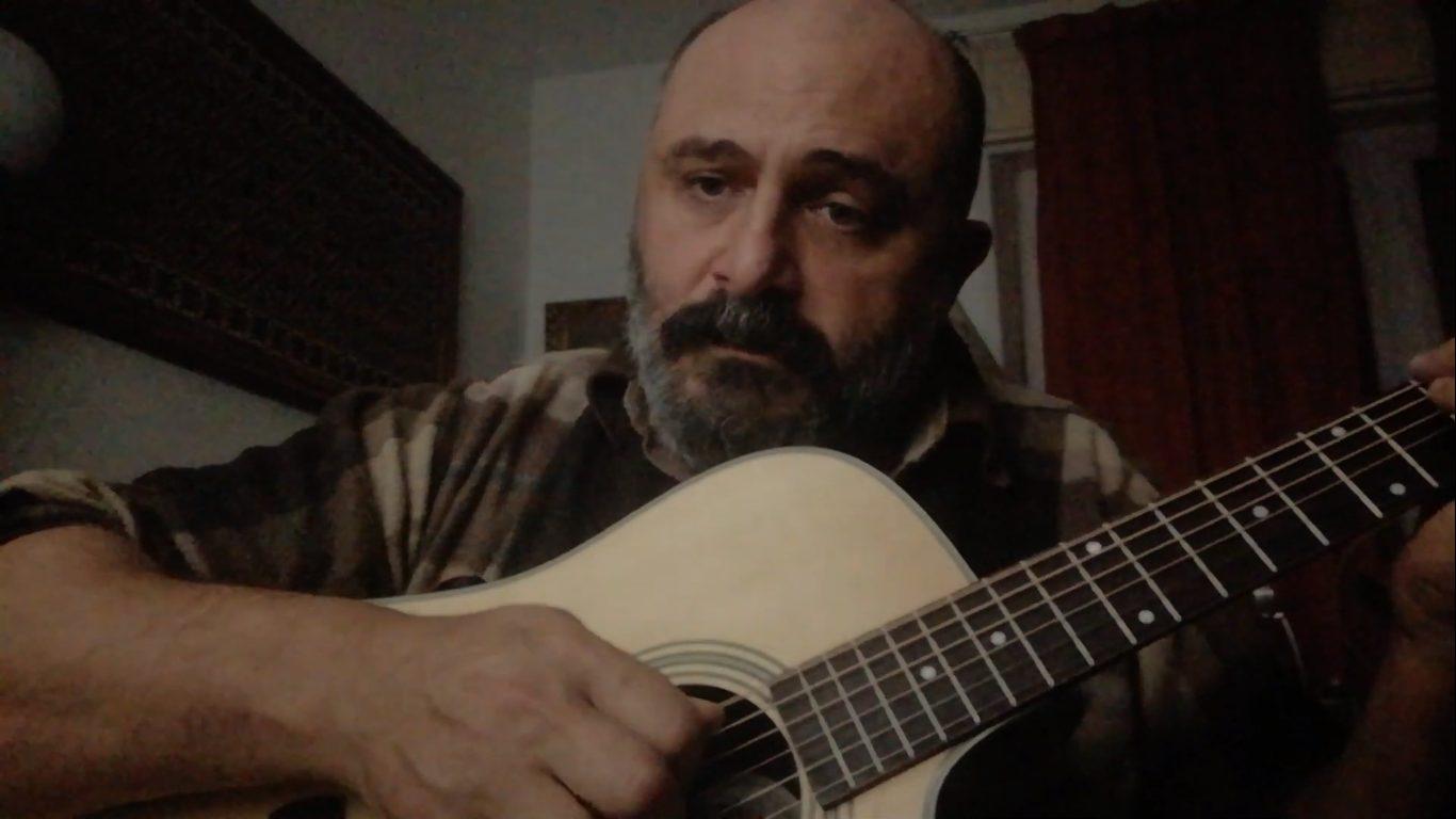 Andrea Andrillo - cover - Marcello Cadeddu - L'Addio - musicachenonsiferma - Angela Colombino - 2020 - Sa Scena Sarda