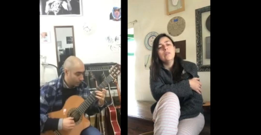 Claudia Crabuzza - Chichimeca - Antonio Pilzol - cover - Alessandro Carta - Lu Cur'aggu - musicachenonsiferma - Angela Colombino - 2020 - Sa Scena Sarda