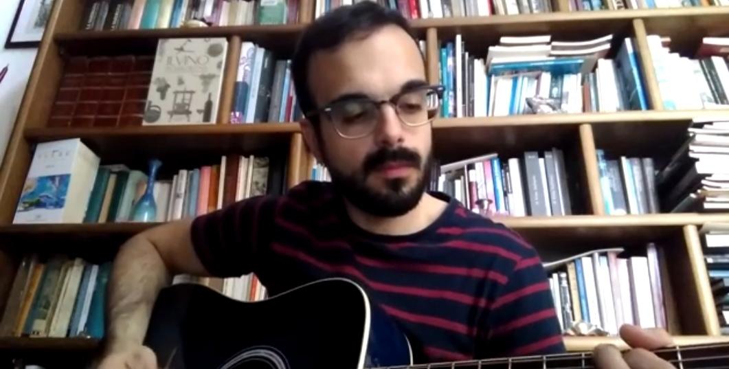 Alessandro Manca - cover - Out of Business - Real Friends - musicachenonsiferma - Angela Colombino - 2020 - Sa Scena Sarda
