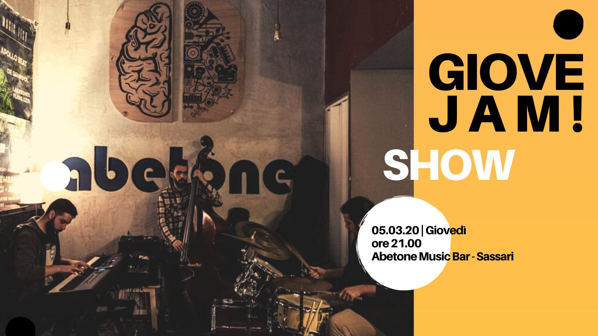 Giovejazz - GioveJam! - Abetone Music Bar - Sassari - 5 marzo 2020 - eventi - 2020 - Sa Scena Sarda