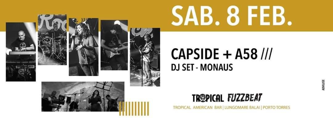 Fuzzbeat - Capside - A58 - Tropical American Bar - Porto Torres - 8 febbraio 2020 - eventi - 2020 - Sa Scena Sarda