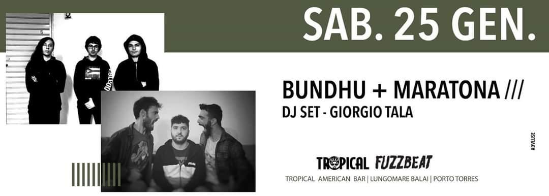 Fuzzbeat - Bundhu - Maratona - Tropical American Bar - Porto Torres - 25 gennaio 2020 - eventi - 2020 - Sa Scena Sarda