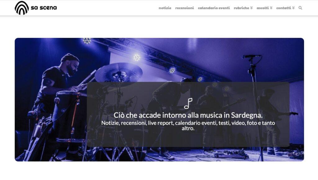 screenshot sa scena 2020 - sito sa scena - musica in sardegna - sa scena