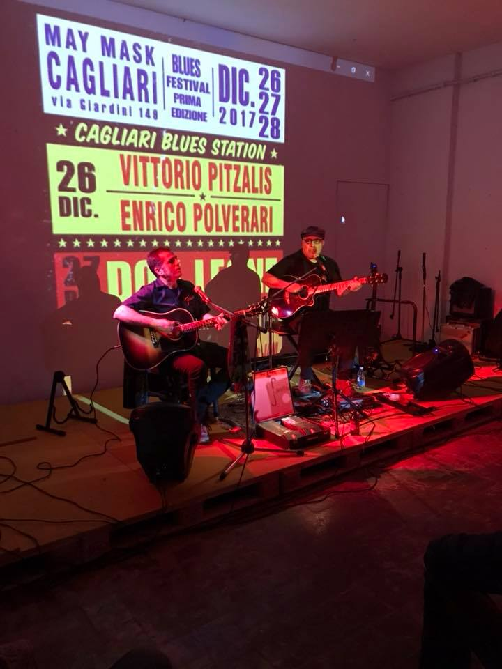 Entico Polverari - Vittorio Pitzalis - Talkin' Blues - intervista - Cagliari Blues Radio Station - Simone Murru - 2021 - Sa Scena - 30 gennaio 2021